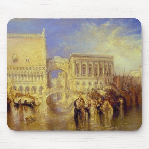 Venice, the Bridge of Sighs by J. M. W. Turner Mousepad