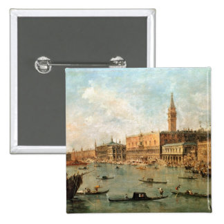 Venice: The Doge's Palace and the Molo from the Ba 15 Cm Square Badge