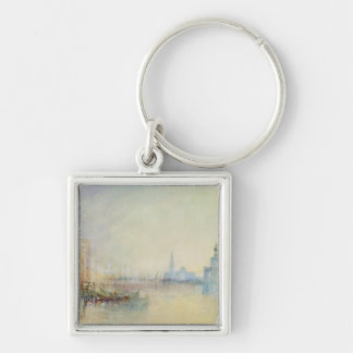 Venice, The Mouth of the Grand Canal, c.1840 (w/c Silver-Colored Square Key Ring