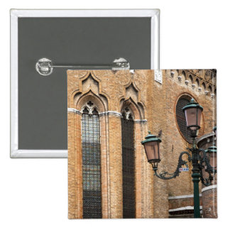 Venice, Veneto, Italy - A lamp post is standing 15 Cm Square Badge