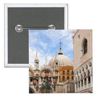 Venice, Veneto, Italy - Birds are perched on a 15 Cm Square Badge