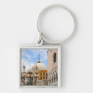 Venice, Veneto, Italy - Birds are perched on a Silver-Colored Square Key Ring