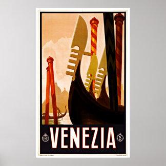 Venice Venezia Italy - Vintage Travel Posters