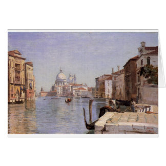 Venice - View of Campo della Carita looking ... Card