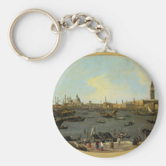 Venice Viewed from the San Giorgio Maggiore Basic Round Button Key Ring