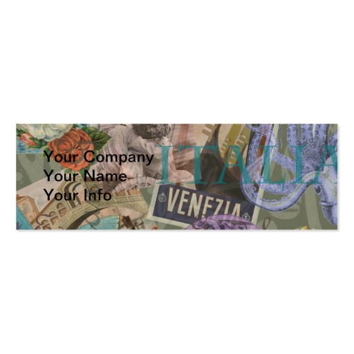 Venice Vintage Trendy Italy Travel Collage Business Cards