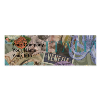 Venice Vintage Trendy Italy Travel Collage Pack Of Skinny Business Cards