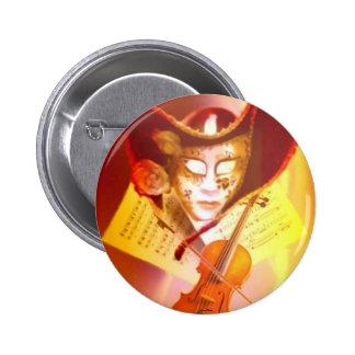 Venice Violinist Button