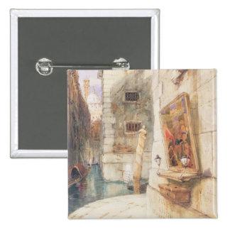 Venice (w/c) 15 cm square badge