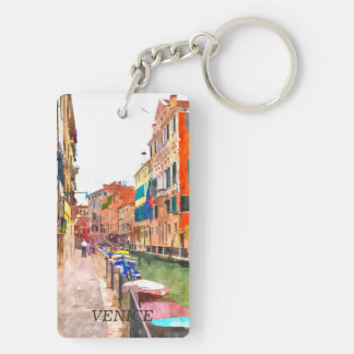 Venice watercolor painting keychain