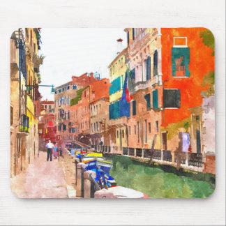 Venice watercolor painting mousepad