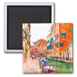 Venice watercolor painting refrigerator magnet