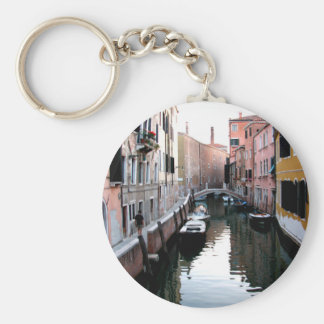 Venice Waters Basic Round Button Key Ring