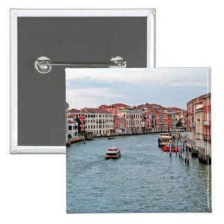 Venice Waterway 15 Cm Square Badge