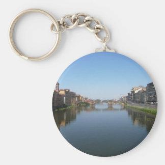 Venice Waterway Basic Round Button Key Ring