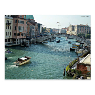 venice waterway Venice Italy Postcard