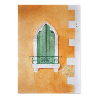 Venice window - taken from an original watercolor art photo