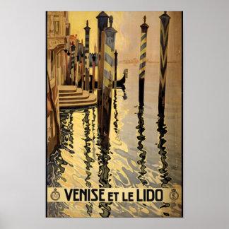 Venise et le Lido Travel Art Poster Print