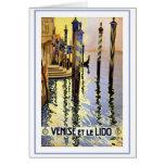 Venise Et Le Lido Vintage Note Card