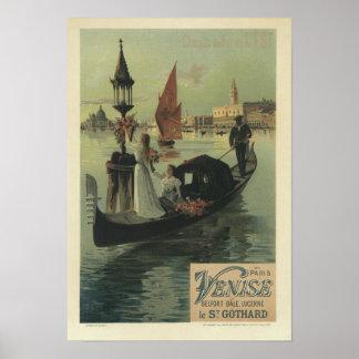 Venise, F Hugo D' Alesi Poster