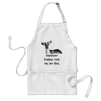 Venison better not be on the menu! standard apron