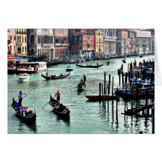 Venitian canals blank inside greeting card