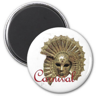Venitian Carnival Mask 6 Cm Round Magnet