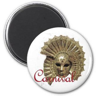 Venitian Carnival Mask Refrigerator Magnets