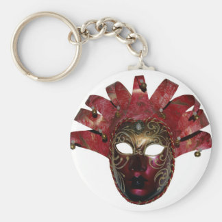 venitien mask basic round button key ring