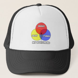 Venn Diagram .. My Boyfriend Trucker Hat
