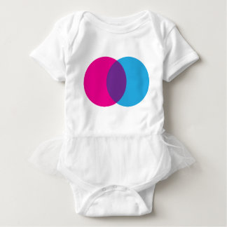 Venn Diagram Pink, Blue, & Purple Baby Bodysuit