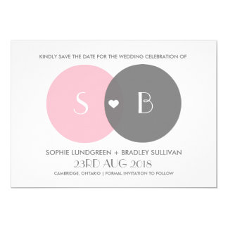 Venn Diagram Save the Date Announcement