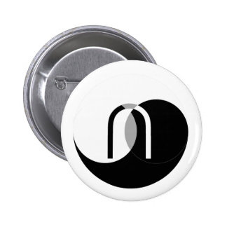 Venn Intersection YinYang Pinback Button