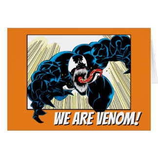 Venom Air Attack Comic Panel Card
