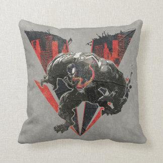 Venom Ink And Grunge Cushion