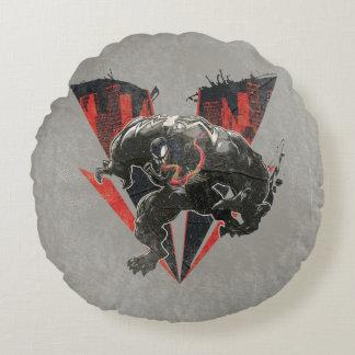 Venom Ink And Grunge Round Cushion