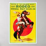 Ventura Rodeo, 1933. Vintage Advertising Poster