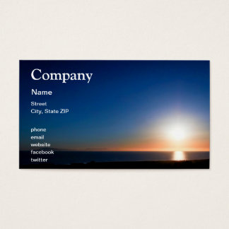 Ventura Sunset Business Card