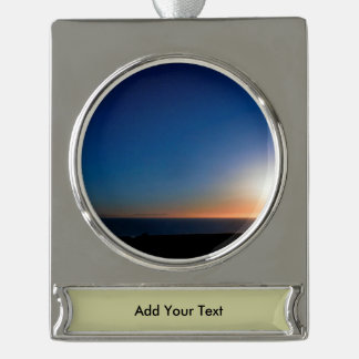 Ventura Sunset Silver Plated Banner Ornament
