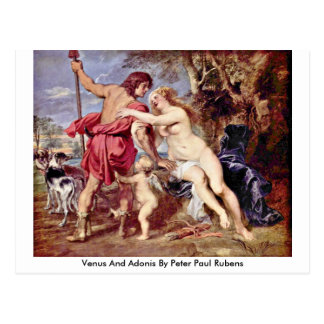 Venus And Adonis By Peter Paul Rubens Postcard