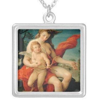 Venus and Cupid, 1785 Square Pendant Necklace