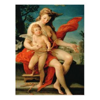 Venus and Cupid, 1785 Postcard