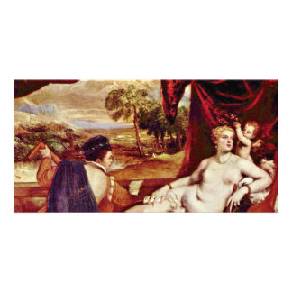 Venus And The Lute Player,  By Tizian Photo Card Template