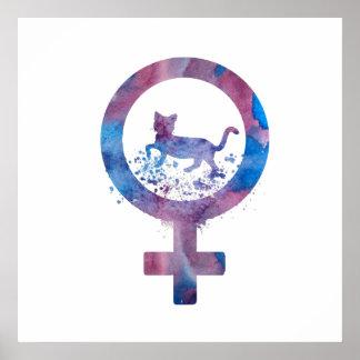 Venus Cat Poster