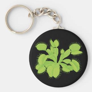 Venus Flytrap Botanical Art Basic Round Button Key Ring