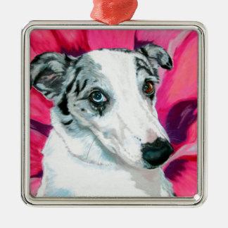 'Venus Flytrap' - Collie dog Metal Ornament