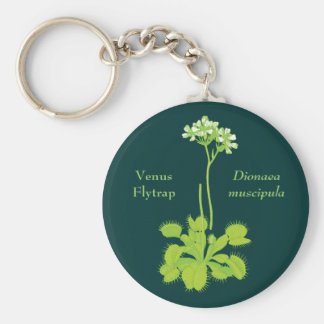 Venus Flytrap Floral Art Key Ring