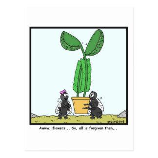 Venus flytrap: Fly cartoon Postcard