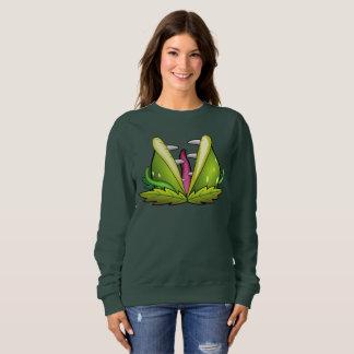 venus flytrap monster womens sweatshirt