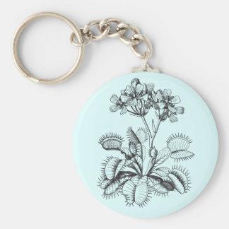 Venus Flytrap Vintage Botanical Basic Round Button Key Ring
